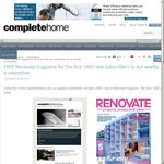 Free Copy of Renovate Magazine Valued at $8.95