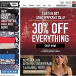 Labour Day Weekend Sale Has Started Early - 30% OFF at MOSSIMO