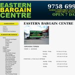 Ferntree Gully VIC - Eastern Bargain Centre and Posh Gully - 20% - 50% off Closing down Sale