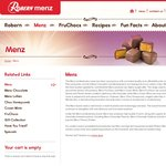 Free Shipping - Fruchocs/Robern Menz Online Store (Minimum Spend $20)