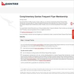 Complimentary Qantas Frequent Flyer Membership (Save $82.50)