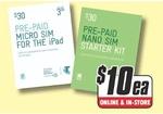 Telstra Prepaid Micro OR Nano Sim for $10 Each (Was $30) @ TGG