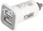 5V 3.1A Plastic Dual USB Car Cigarette Powered Charger for iPhone/Samsung/iPad - $1.07