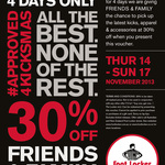 Footlocker 30% off Friends and Family Sale - Instore 4 Days Only