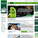 Woolworths Car Insurance (Free $75 Fuel Card + 1yr Roadside Assistance + Upto 20% Discount)