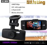 G1WH 2.7 Inch Car DashCam 1080P HD /140° Wide Angle Lens/US $39.99 Delivered @ Gearbest