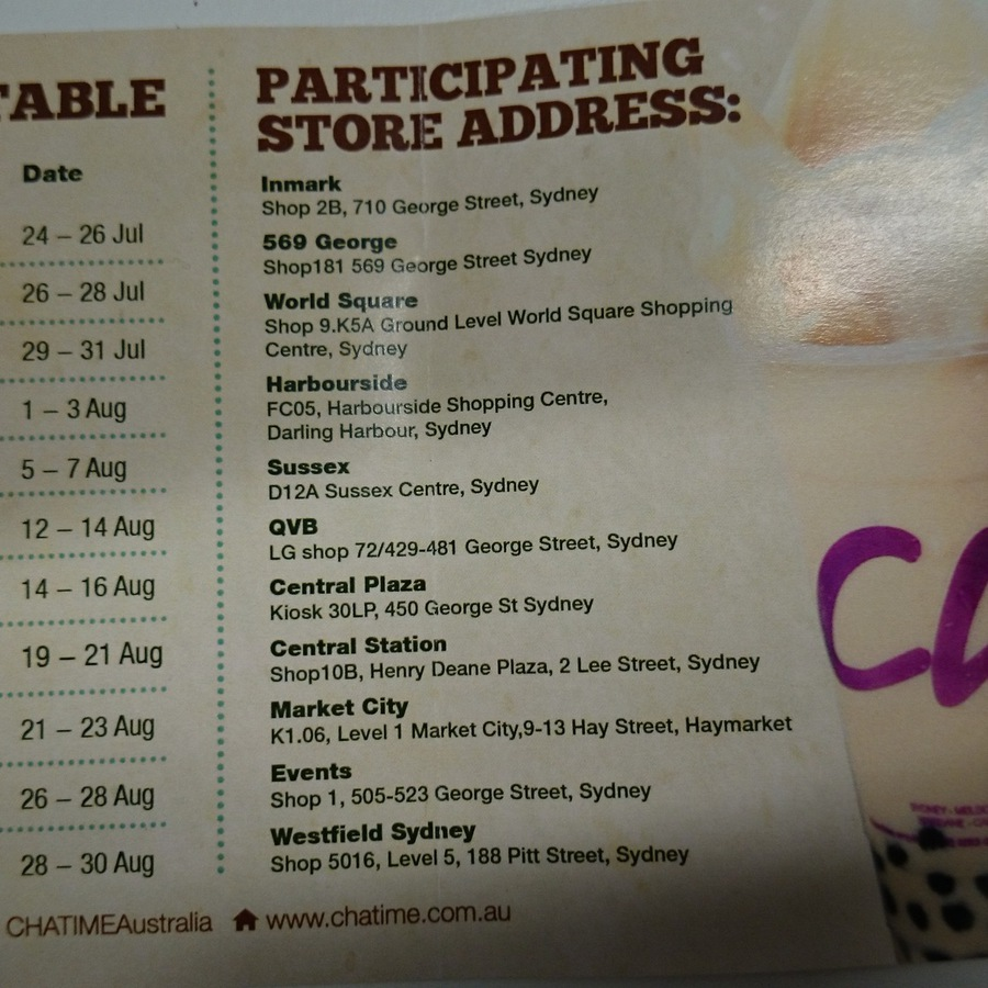 Buy 1 Get 1 Free Cold Drinks @ Chatime - Selected Stores in