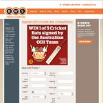 Win a Cricket Bat Signed by The Australian ODI Cricket Team Worth $199 from BWS