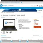 HP SlateBook 14-P001tu PC (Sweet Yellow) $169 (with 15% Discount Code) + Free Delivery