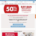 50% off Ray-Ban Prescription Sunglasses at OPSM [In Store Only]