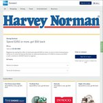 AmEx Offer: Spend $350 Get $50 @ Harvey Norman
