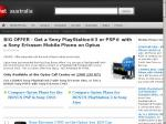 BIG OFFER - Get a Sony PlayStation®3 or PSP® with a Sony Ericsson Mobile Phone on Optus