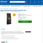Jasper Fairtrade Rich Drinking Chocolate 1kg, $4 (Save ~ $35) Click & Collect (or + $5.95 Postage) @ Officeworks (Clearance)