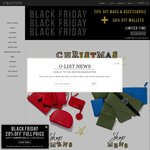 70% off Oroton Outlet, 20% off Bags & 30% off Wallets at Oroton - Black Friday Sale