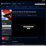God of War 3 Remastered PS4 for $13.55 @ Au PlayStation Store (PlayStation Plus Required)
