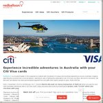 $30 off Min $129 Spend on RedBalloon When Paid with a Citibank Visa Card