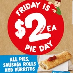 7 Eleven $2 Pies on Fridays - All Pies, Sausage Rolls and Burritos