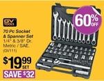 70 Piece Socket & Spanner Set $19.99 (save $32) @ Repco