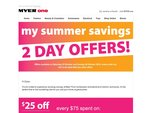 Myer Saturday+Sunday Save $25 of Every $75 Spent on Certain Products