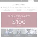 VAN HEUSEN 4 Business Shirts for $100