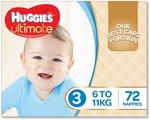Huggies Ultimate Nappies - Various Sizes, $21 Per Box @ Amazon AU
