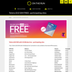 Free $10 Telstra SIM with 10GB Data with Any Purchase at On The Run (SA Only)