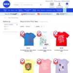 Kids Printed T-Shirts (Boys and Girls) $2.50 (Were $3) Each @ Big W