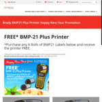 Brady BMP21 Plus - Free with Purchase of 8 Rolls of Labels (from $213.76 Shipped) @ Express Printers
