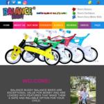 50% off Balance Bikes - $64.50 + $15 Shipping @ Balance Buddy