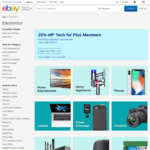 25% off 51 Sellers for eBay Plus Members / 20% off for Non-eBay Plus Members @ eBay