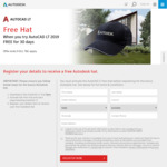 Free Hat from Autodesk When Trialling Autocad LT