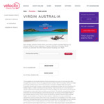 Earn Double Velocity Points for Flights between 1 January 2019 and 9 October 2019 @ Virgin Australia
