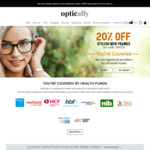 20% OFF Prescription Glasses and Sunglasses @ Optically - Health Funds Registered Provider