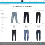 G-Star Jeans - Mens & Ladies - All Sizes - £30 & £5 Delivery (Approx $62 Delivered) @ USC