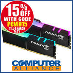 G.Skill 16GB DDR4 (2x8g) 3000MHz Trident Z RGB RAM Kit $194.65 + Delivery (Free with eBay Plus) @ Computer Alliance eBay