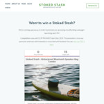 Win a Stash Bag/Safe Box/Bluetooth Speaker Combo Worth $379 from Stoked Stash Pty Ltd