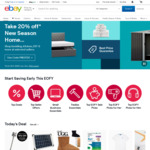 15% off Eligible Items on eBay for eBay Plus Members, 10% off for Non Members ($120 Min Spend, $200 Max Discount)