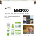 Win a Naturally Serious Skincare Prize Pack Worth $250 from MiNDFOOD