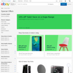 10% off Eligible Items (Min $120 Spend, Max Discount $200) EXPIRED | 15% or 20% off Items at Selected Sellers @ eBay