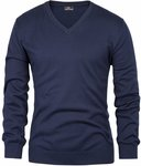 Men's V-Neck Pullover Sweater Sizes S to 2XL USD $9.60 (~AUD $14.23) @ Paul Jones
