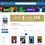 Any 5 DVD or Blu-Ray for $14 + $1.99 Delivery @ OzGameShop