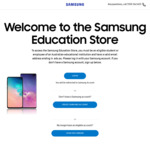 Black Friday Sale - 30% off Flagship Phones and Wearables, 40% off Accessories @ Samsung Education Store