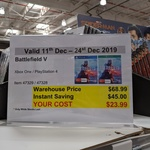[XB1, PS4] Battlefield V $23.99 @ Costco (Membership Required)