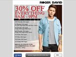 Roger David 35% off (One Day Only)
