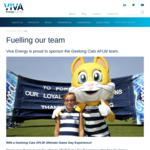 Win 5 Cents Per Litre off Shell Fuel Every Time The Geelong Cats AFLW/AFL Team Wins from Viva Energy