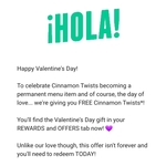 Free Cinnamon Twists with Any Purchase @ Taco Bell