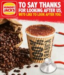 Free Medium Coffee, Soft Drink or Water for Healthcare Workers @ Hungry Jack's