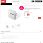 SONY ICFS80 FM/AM Shower Radio $69 Delivered @ NAPF Electronics