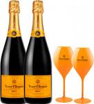 Veuve Clicquot Brut Double with Branded Flutes $149.99 Delivered @ Wine.com.au