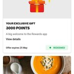 Bonus 3000 Woolworths Points for Downloading App @ Woolworths Rewards